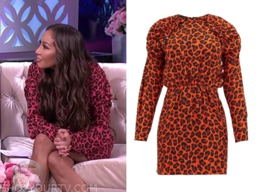 adrienne bailon's red leopard dress