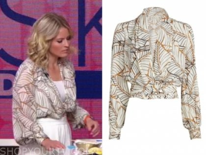 sara haines's printed blouse