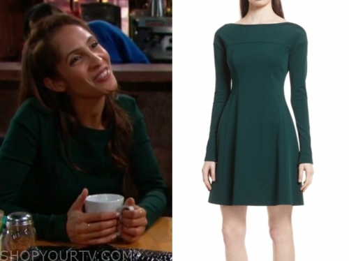 lily's green flare dress