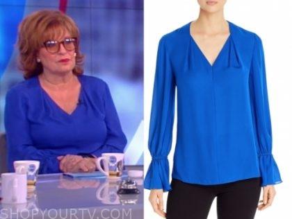 joy behar's blue blouse