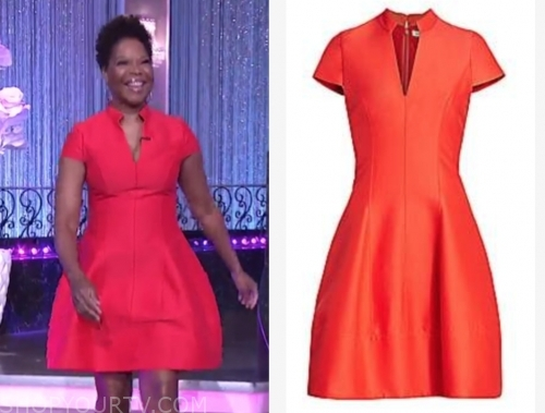 angela robinson, the real, red dress