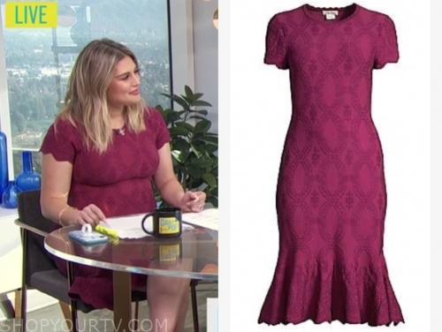 carissa culiner's pink embroidered dress