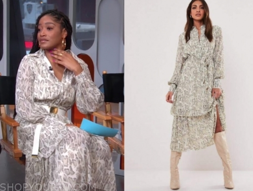 keke palmer's snakeskin dress