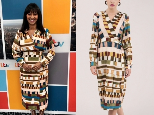 ranvir singh's multicolor dress