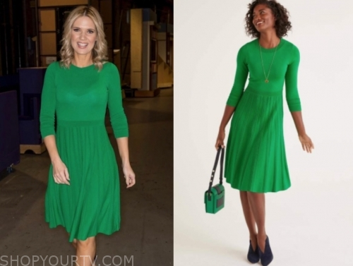 charlotte hawkins's green flare dress