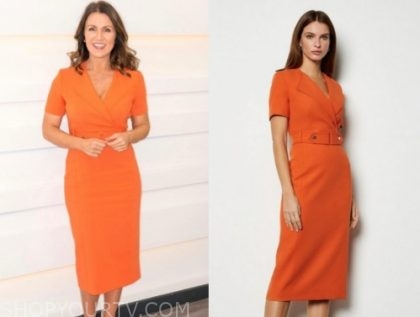 susanna reid's orange dress