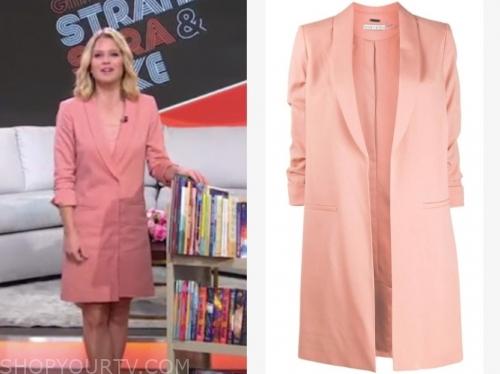 sara haines's peach blazer dress