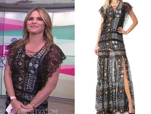 jenna bush hager's floral lace maxi dress