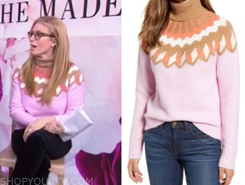 jill martin's pink turtleneck sweater