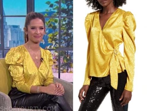 rosci diaz's yellow blouse