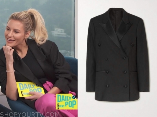 morgan stewart's black blazer