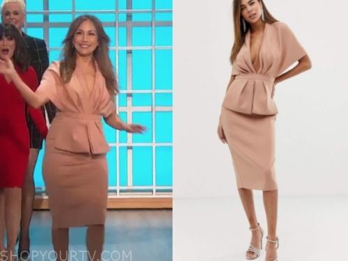 carrie ann inaba's pink peplum dress