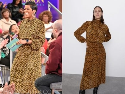 tamron hall's printed midi dress