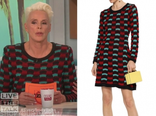 brigitte nielsen's knit dress