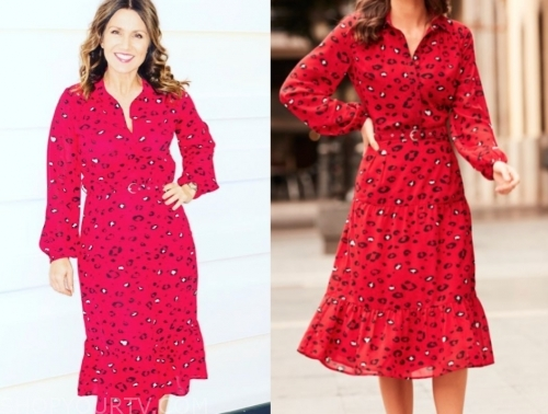 susanna reid's red leopard dress
