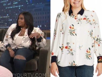 niña parker's floral blouse