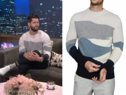 hunter king's colorblock sweater