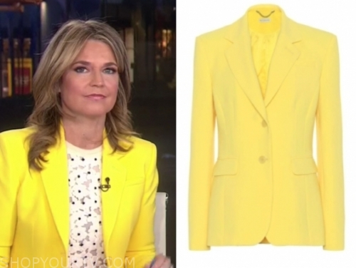 savannah guthrie's yellow blazer