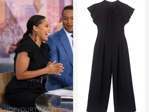 sheinelle jones's black jumpsuit