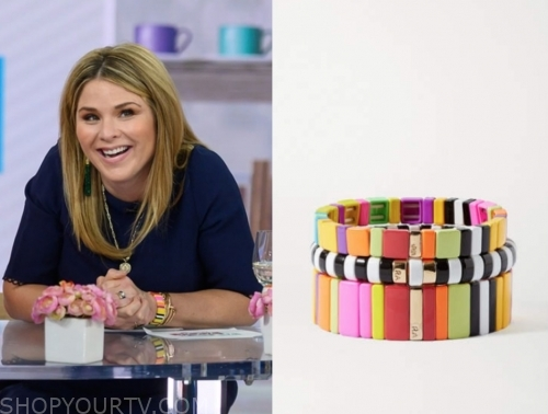 jenna bush hager's multicolor bracelet, the today show