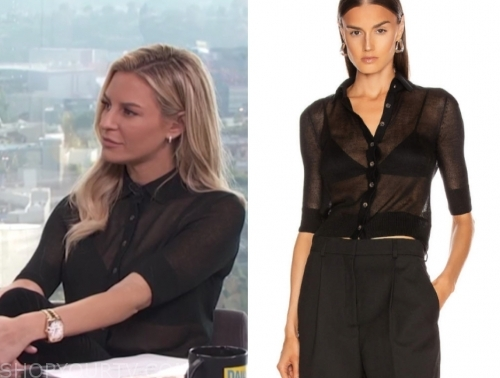 morgan stewart's black knit top