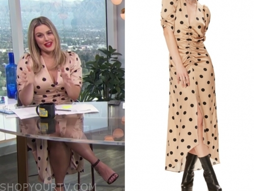 carissa culiner's polka dot midi dress