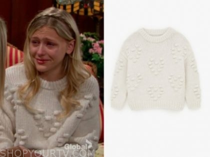 faith's ivory sweater, the young and the restless