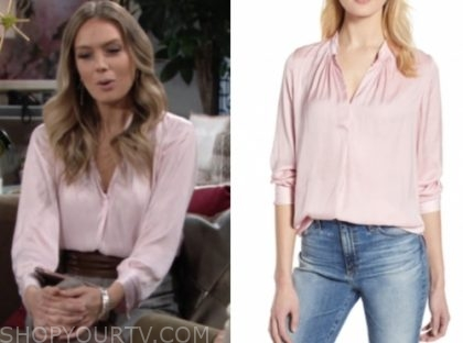 abby newman's pink blouse