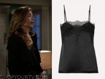 victoria newman's black lace camisole top