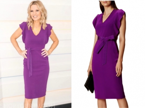 charlotte hawkins's purple dress