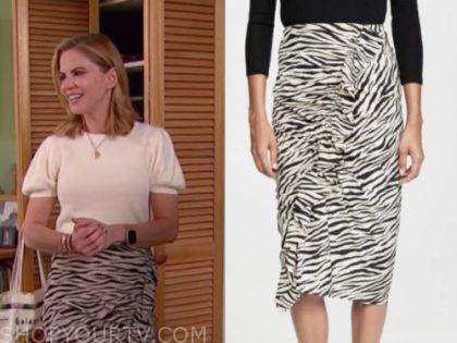 natalie morales, zebra skirt, the today show