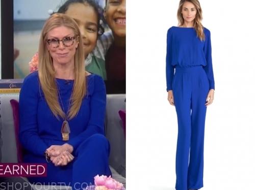 jill martin's blue jumpsuit