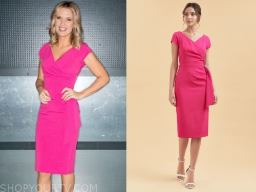 gmb, charlotte hawkins, hot pink dress