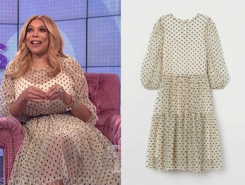 wendy williams's polka dot tulle dress