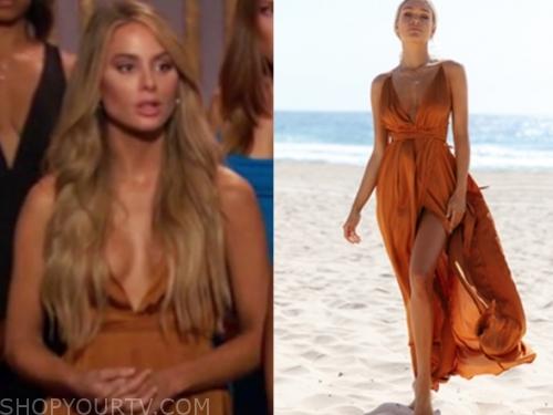 victoria p.'s orange maxi dress