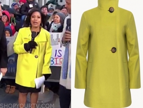 sheinelle jones's yellow coat