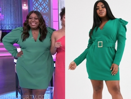 loni love's green puff sleeve dress