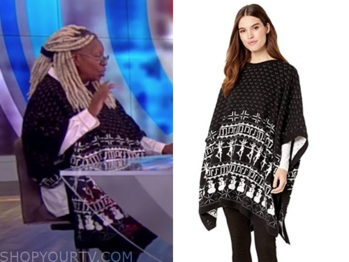 whoopi goldberg's black poncho