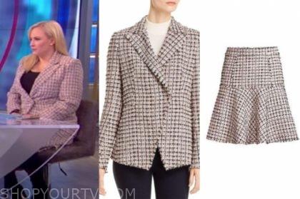 meghan mccain's tweed skirt suit
