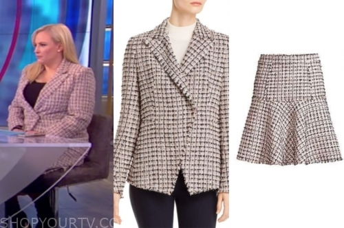 meghan mccain's tweed skirt suit