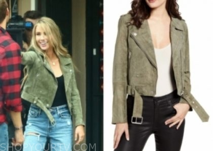 victoria p.'s green moto jacket, the bachelor