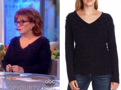joy behar's dot sweater, the view
