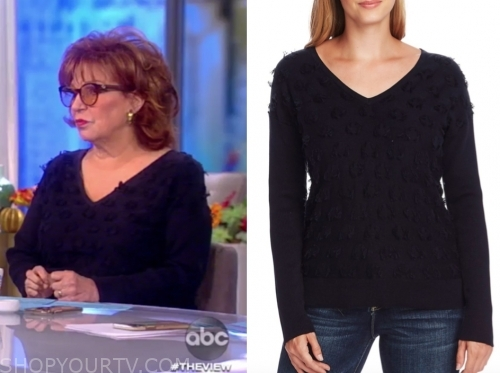 joy behar's dot sweater, the view