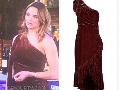 summer newman's one-shoulder velvet dress