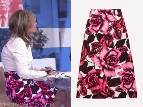 savannah guthrie's floral skirt