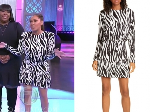 adrienne bailon's black and white zebra dress, the real