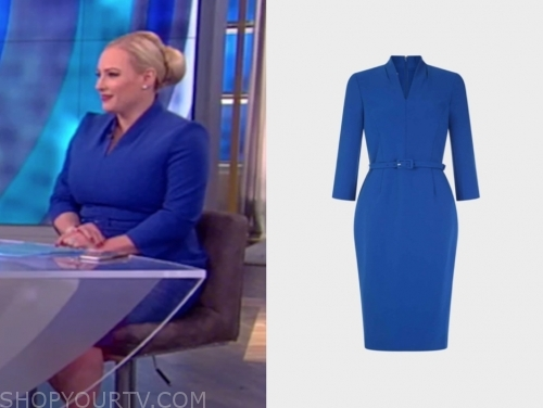 meghan mccain's blue belted sheath dress, the view