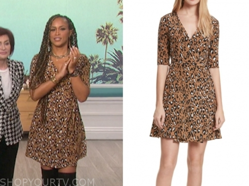 eve's leopard wrap dress, the talk