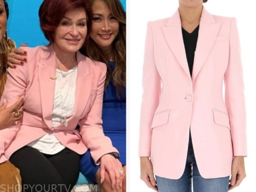 sharon osbourne's pink blazer, the talk