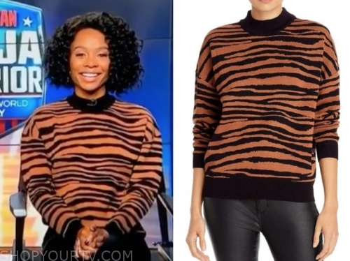 zuri hall, tiger sweater, access hollywood